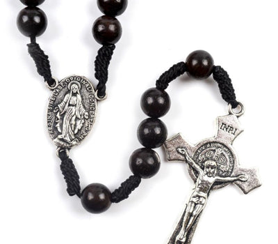 black wood rosary - hand made mens rosary - funeral rosary - winfinity brands - free shipping world wide