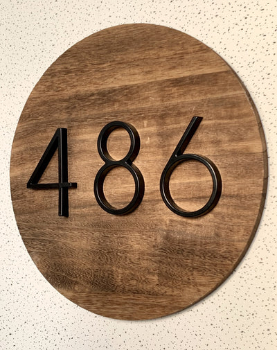 slim black floating house number sign diy sign
