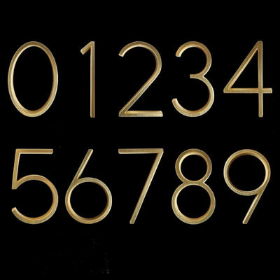 brass gold house numbers 1 2 3 4 5 6 7 8 9 0