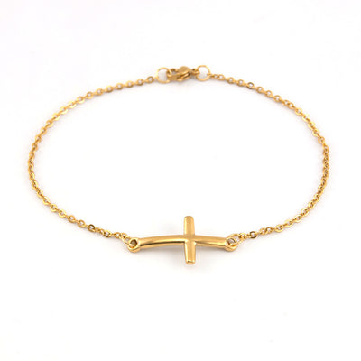 CREATEME™ SIMPLE CROSS BRACELET