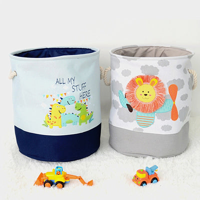 fabric storage baskets dinosaurs, lion kids fabric baskets decor