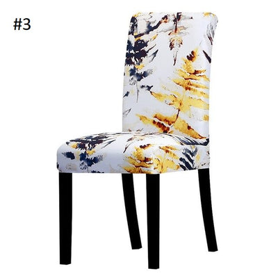 white and blue and yellow art flowers slip covers spandex - chair covers winfinity brands