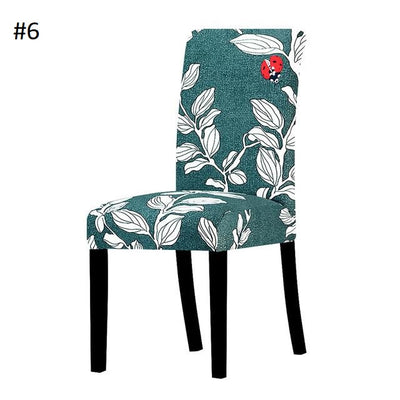 green with lady bug dining chair spandex slip covers - winfinity brands