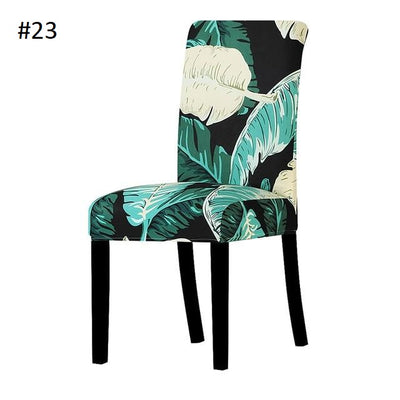 jungle leavs for dining chair spandex slip covers - winfinity brands