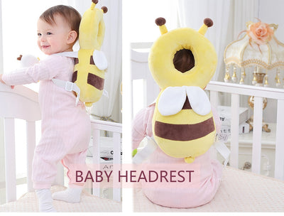 baby girl angel head and back cushion harness backback