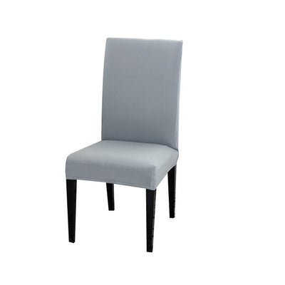 spandex dining chair slipcover light grey color stretch