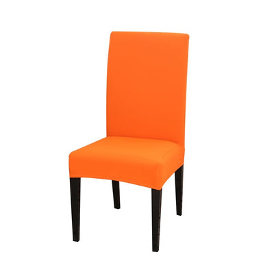 spandex dining chair slipcover orange color stretch