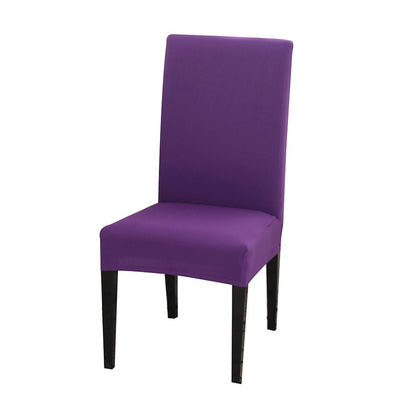 spandex dining chair slipcover lavendar purple color stretch