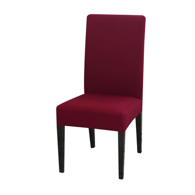 spandex dining chair slipcover burgundy wine color stretch