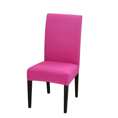 spandex dining chair slipcover fucshia color stretch