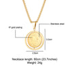 2.8 cm pendant gold necklace for men catholic - winfinity brands, free shipping catholic store
