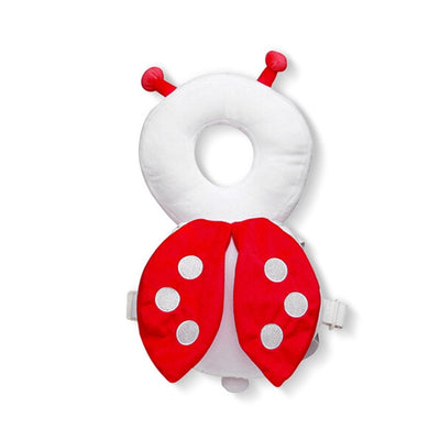 lady bug  head and back cushion harness backback