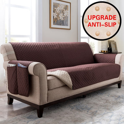 Sofa Protector Cover - Premium Quality Thick Quilted Couch Slipcovers