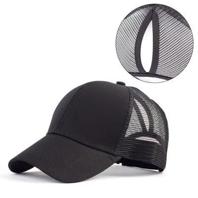 cap hat with hole for bun or ponytail