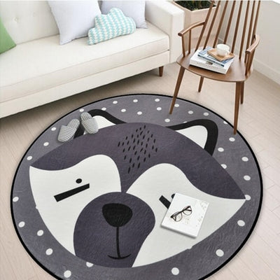 raccoon woodland creatures play may baby room decor grey nordic