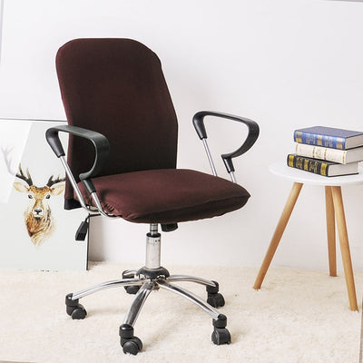 Office Chair Spandex Slipcovers - 2 Piece Set