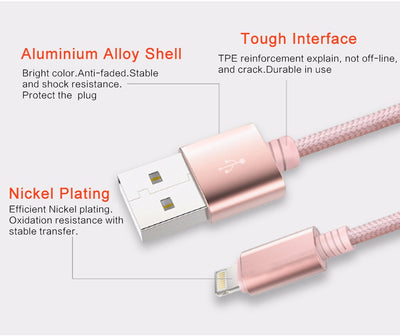 Lightning (Apple) & Micro (Android) & Type C -  3 in 1 USB Charger - Winfinity Brands