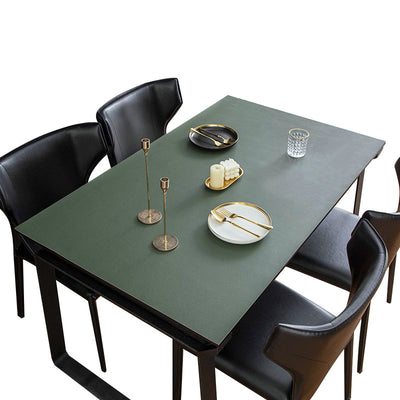vegan leather table protector green color - winfinity brands