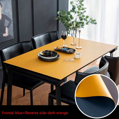 vegan leather table protector yellow or blue color - winfinity brands