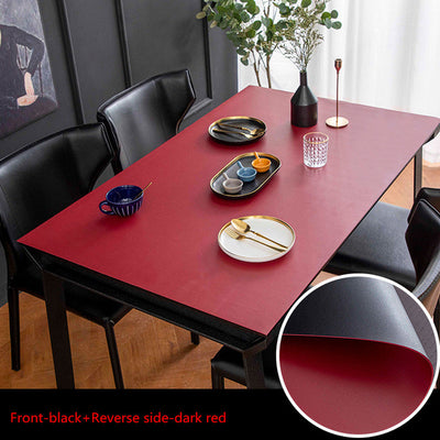 vegan leather table protector red or black color - winfinity brands