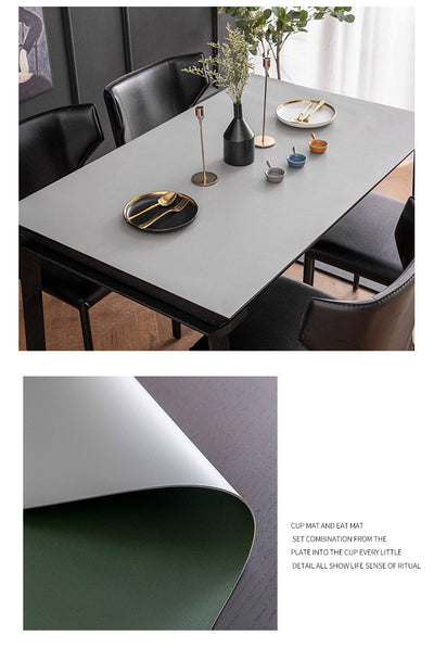 Vegan Leather Table Protector - Premium Quality Table Cloth Covers for Square or Rectangle Tables
