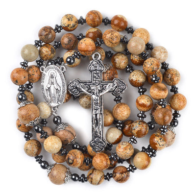 natural stone beaded rosary.mary pendant rosary.jesus christ catholic accessories. - winfinity brands - free shipping world wide