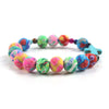 colorful catholic barcelt for women - catholic polymer clay bracelet stretchy - winfinity brands