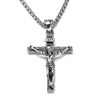 men's vintage cross necklace, thick chunky catholic mens cross necklace pendant - winfinity brands