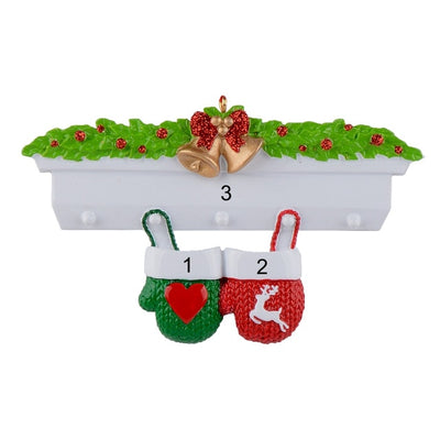 Mantel Gloves, Family Polyresin, Christmas Personalized, Christmas Ornaments , Home Decoration