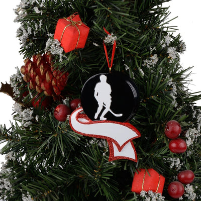 Personalized Men's, Hockey Ornament f, Christmas Tree Decoration, Sports souvenir