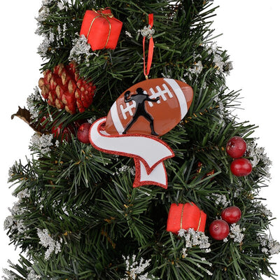 Personalized foot ball ornaments,Christmas tree decor,Christmas ornaments Gifts,Football player athlete,Personalized Christmas ornaments,Christmas tree decor ornaments