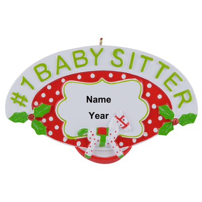 Baby Sitter, Personalized Polyresin, Christmas Tree Ornaments Handcraft Souvenir ,Holiday Gift Party ,Home Decoration