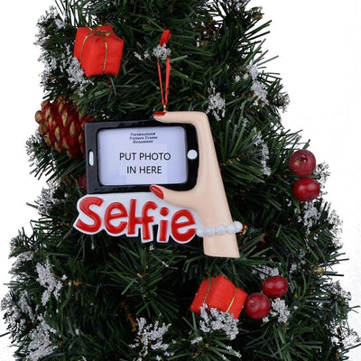 Personalized Selfie Picture Frame Christmas Tree Ornament - winfinity brands, free shipping