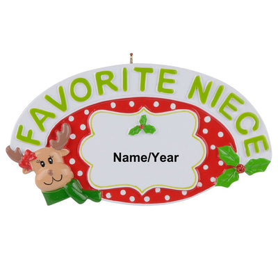 CREATEME™ Favorite Niece Personalized Christmas Tree Ornament