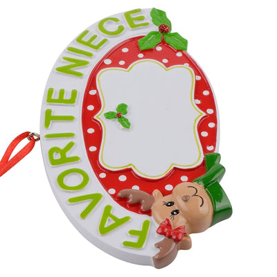 niece gift, christmas gift for favorite niece, favortie niece chritsmas ornament - winfinity brands - free shipping