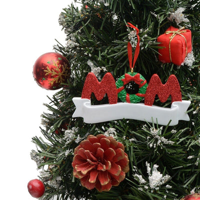 CREATEME™ Mom or Dad Personalized Christmas Ornament