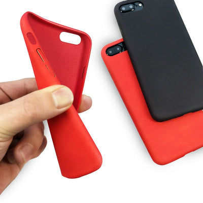 red and black rubber iphone case