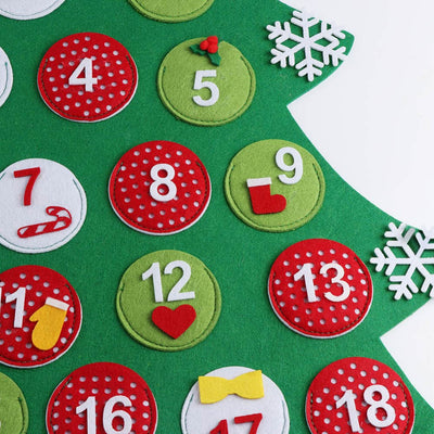 toddler christmas felt tree advent calendar for kids toddlers and babies