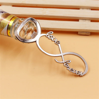 love forever silver wedding bottle openers , wedding or engagement party favor gift  free shipping world wide - winfinity brands