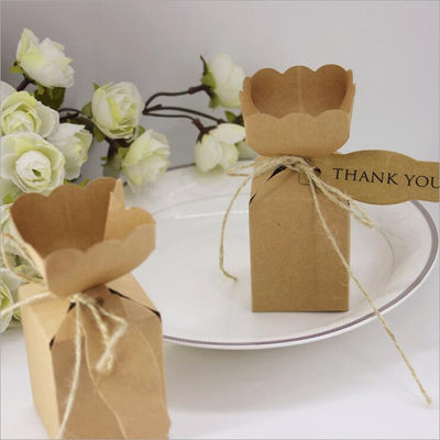 CREATEME™ Kraft Thank You Favor Boxes