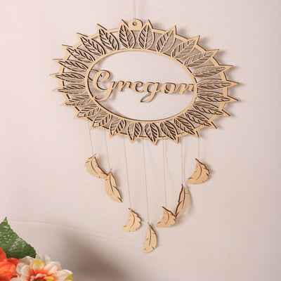 diy dream cathcer name for baby kids room, craft wood dream catched baby kids wall decor, winfiinity brands free shipping world wide