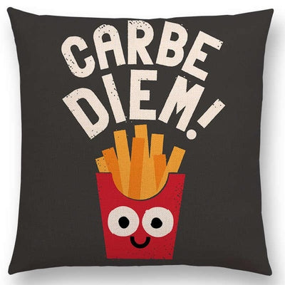 carbe diem carpe diem funny pillow