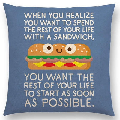 funny pillow case sandwhich
