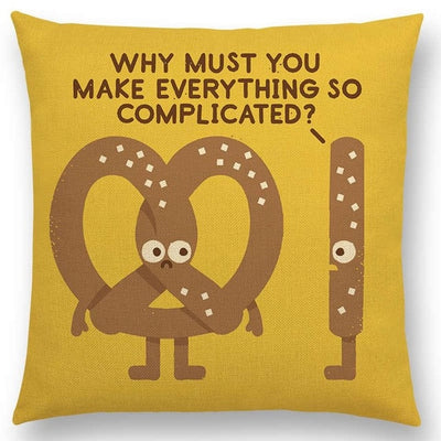 funny pillow pretzel pillow case