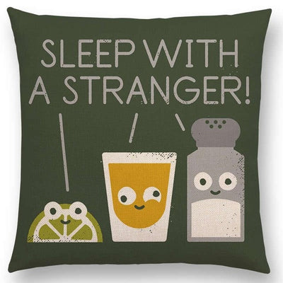 funny pillow tequila shots sleep with a stranger