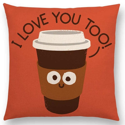 i love coffee pillow case