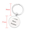 custom photo key chain silver