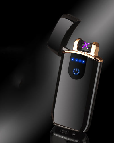 premium good quality usb lighter - rechargeable windproof lighter gift with personalization - winfinity brands   black color usb lighter