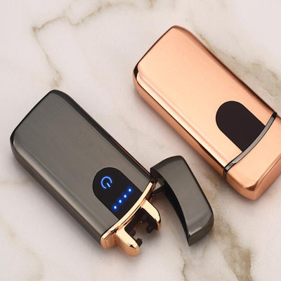 premium good quality usb lighter - rechargeable windproof lighter gift with personalization - winfinity brands   rose gold lighter