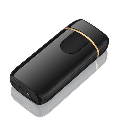 premium good quality usb lighter - rechargeable windproof lighter gift with personalization - winfinity brands  - shiny black
